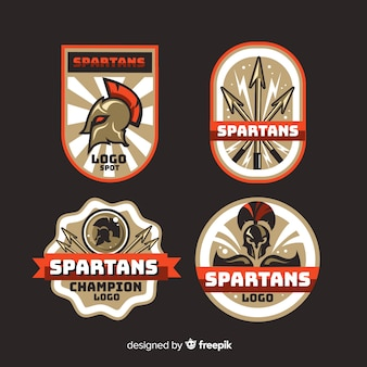 Collection de badges spartiates