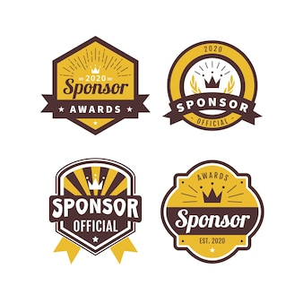 Collection de badges de sponsor