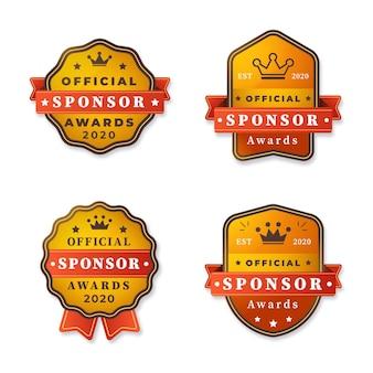 Collection de badges de sponsor