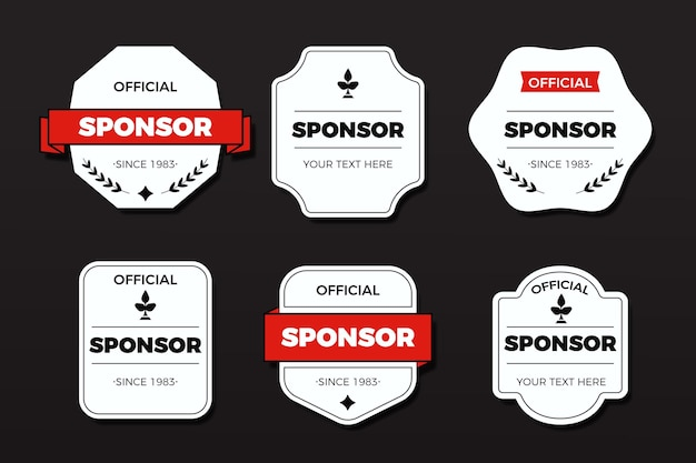 Collection de badges de sponsoring créatif