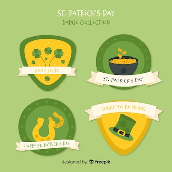Collection de badges de st patrick