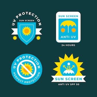 Collection de badges ultraviolets créatifs