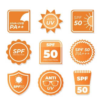 Collection de badges ultraviolets plats