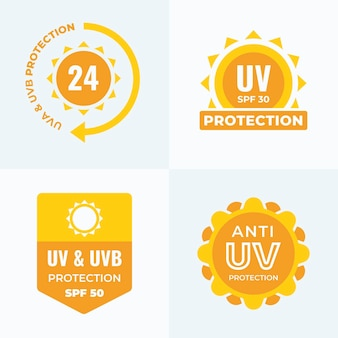 Collection de badges uv design plat