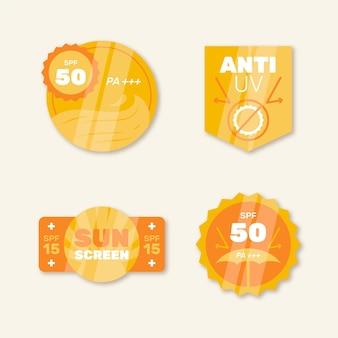 Collection de badges uv plats organiques