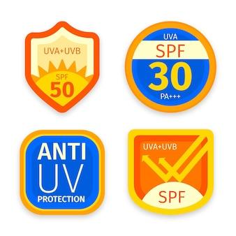 Collection de badges uv plats