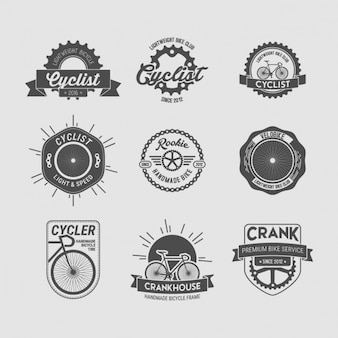 Collection de badges à vélo