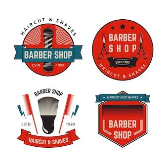 Collection de badges vintage barber shop