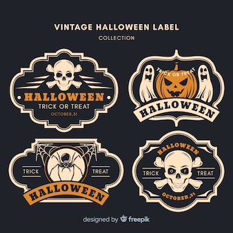Collection de badges vintage halloween