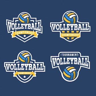 Collection de badges de volley-ball