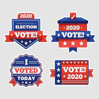 Collection de badges de vote