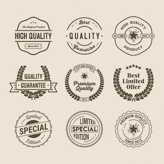 Collection de badges