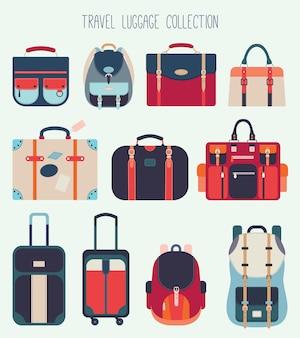 Collection de bagages de voyage (dessin vectoriel)
