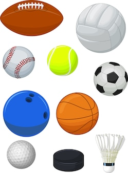 Collection de balles de sport