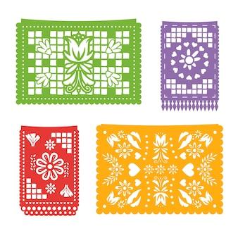 Collection de banderoles au design mexicain
