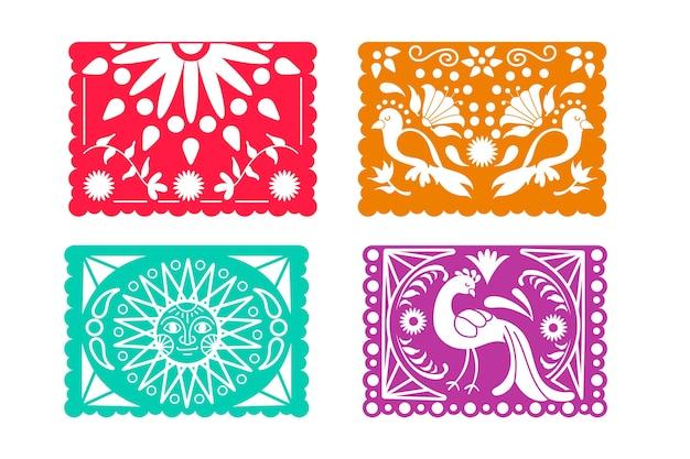 Collection de banderoles colorées mexicaines