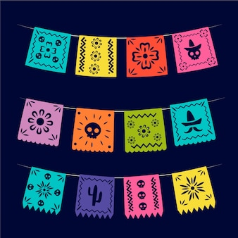 Collection de banderoles avec thème mexicain