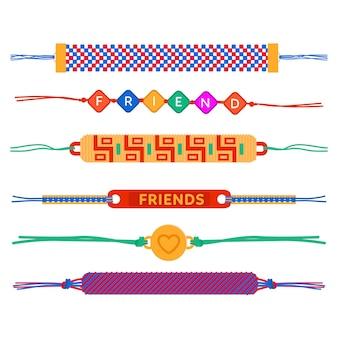 Collection de bandes d'amitié colorées