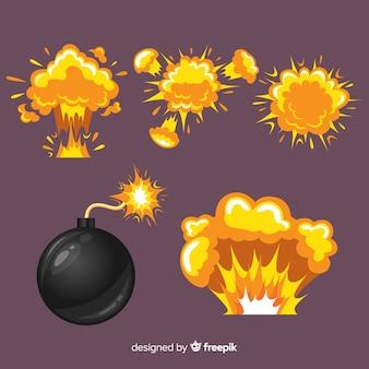 Collection de bandes dessinées et d'effets d'explosion
