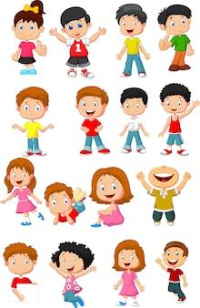 Collection de bandes dessinées enfant heureux