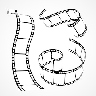 Collection de bandes de films vectoriels 3d