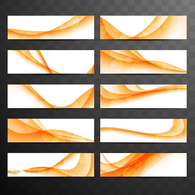 Collection de bandes ondulées en orange