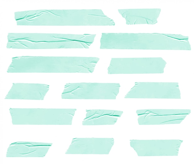 Collection de bandes de washi froissées réalistes