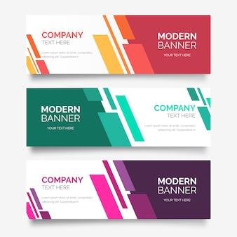Collection de bannière abstraite aux formes modernes
