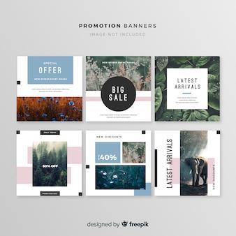 Collection de bannière carrée de promotion