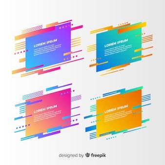 Collection de bannière géométrique abstraite