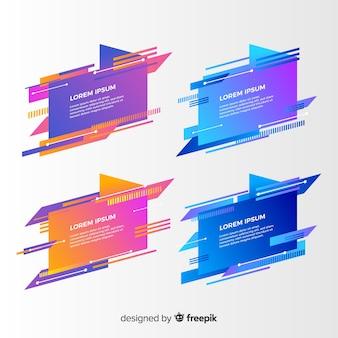 Collection De Bannière Géométrique Abstraite Vecteur gratuit