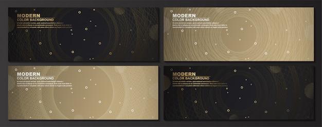 Collection de bannière de jeu géométrique