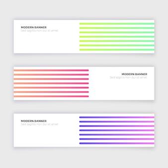 Collection de bannière moderne abstrait avec des lignes