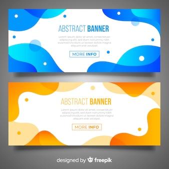 Collection de bannière ondulée abstraite
