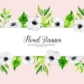 Collection de bannière polyvalente floral printemps aquarelle