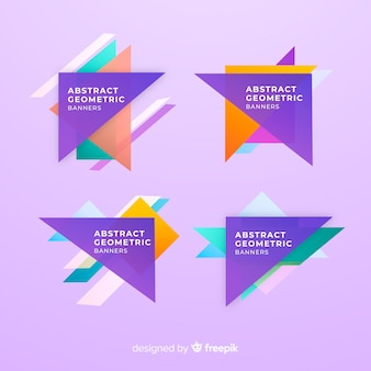 Collection de bannière de triangles géométriques