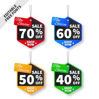 Collection de bannière de vente créative