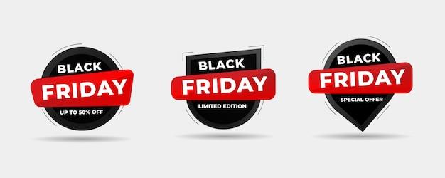 Collection de bannière de vente vendredi noir