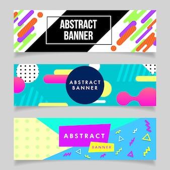 Collection de bannières abstraites des années 80