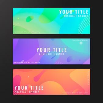 Collection de bannières abstraites colorées