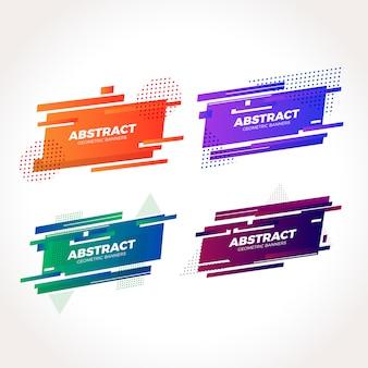 Collection de bannières abstraites