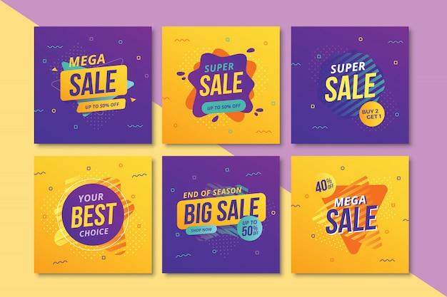 Collection de bannières carrées de promotion