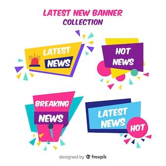 Collection de bannières colorées