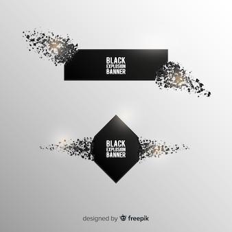 Collection de bannières dark explosion