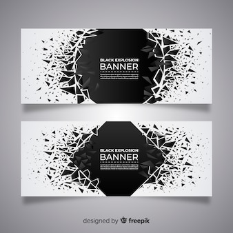 Collection de bannières dark explosion