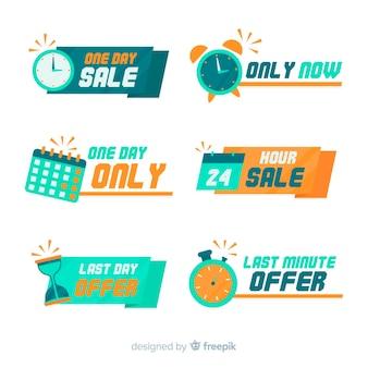 Collection de bannières du compte à rebours des ventes