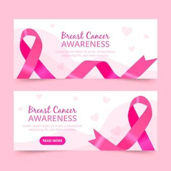 Collection de bannières du mois de sensibilisation au cancer du sein