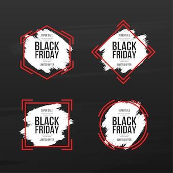 Collection de bannières du vendredi noir