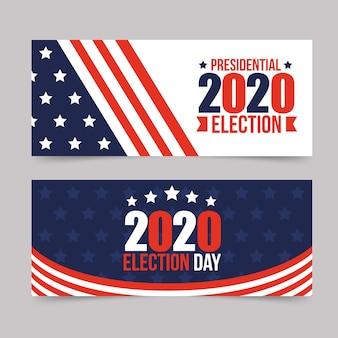 Collection de bannières de l'élection présidentielle américaine 2020