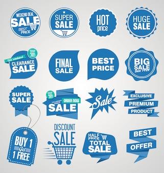Collection de bannières et étiquettes de vente moderne